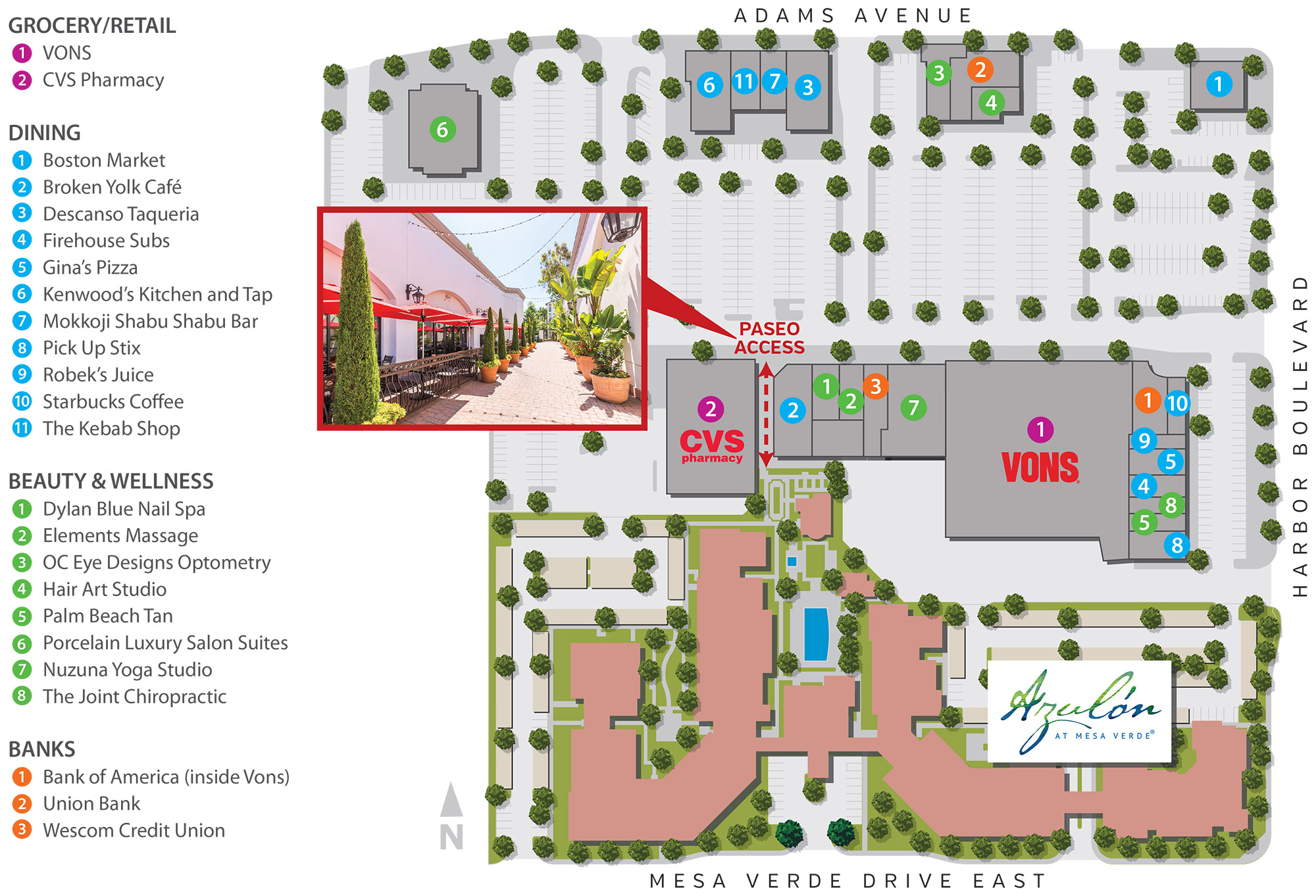 The Shoppes Map